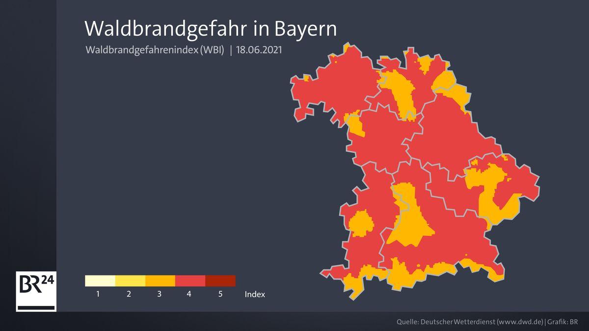 Waldbrandgefahr in Bayern
