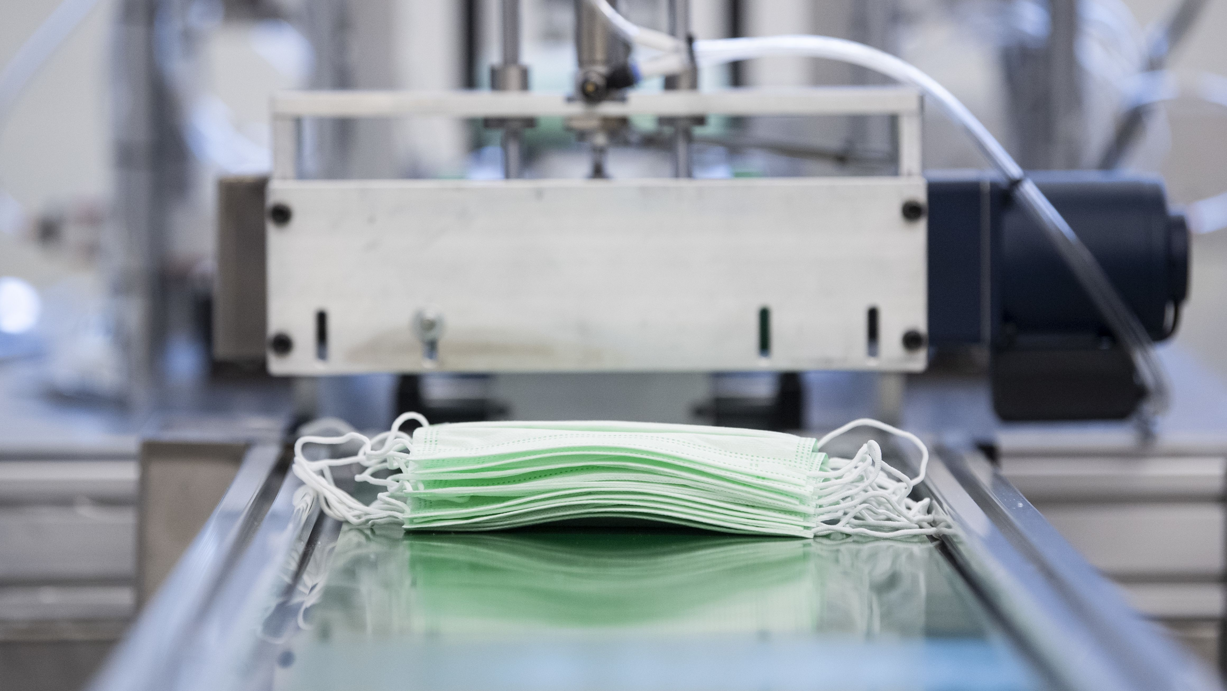 Produktion medizinischer Schutzmasken