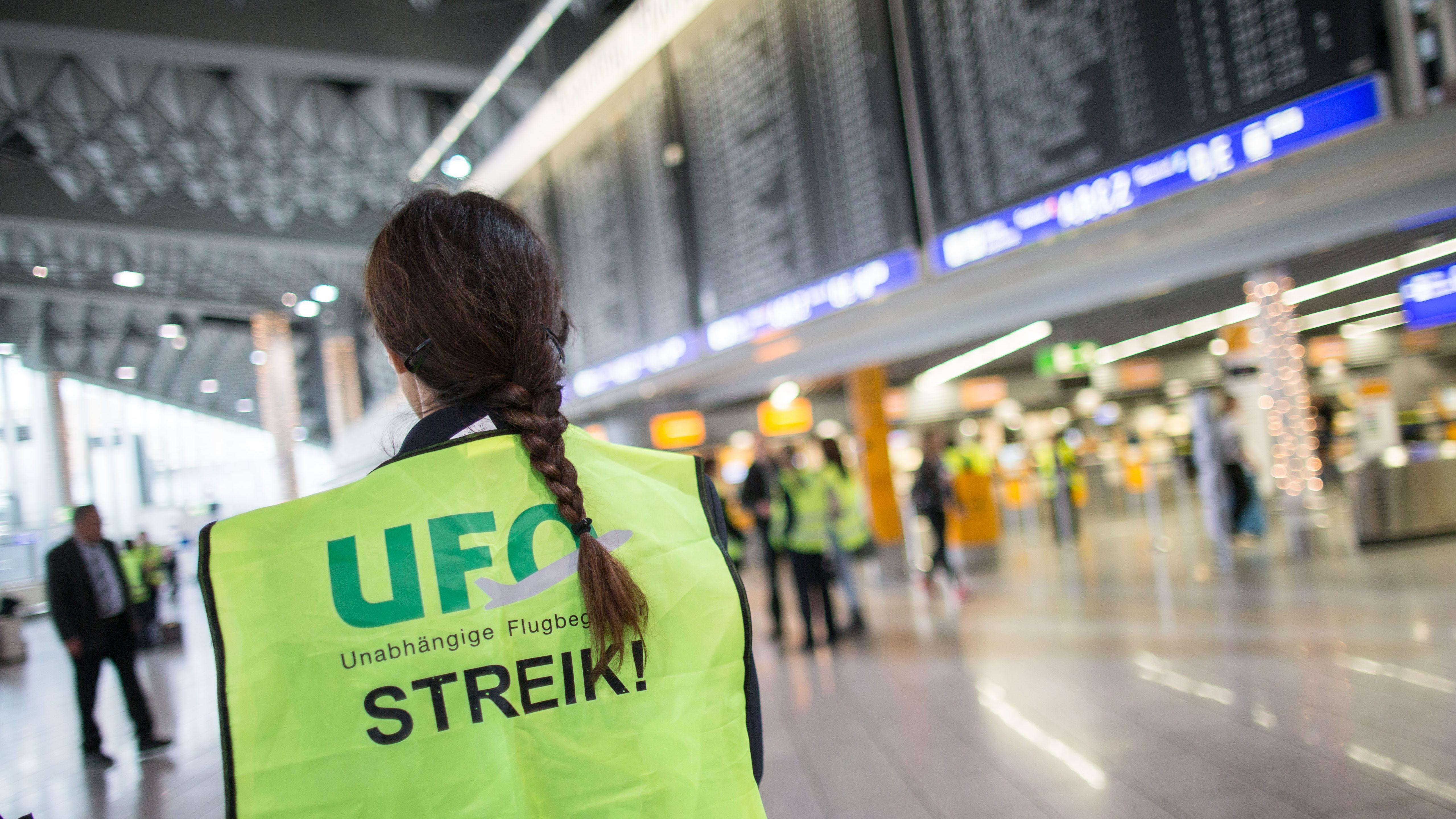 Die Gewerkschaft UFO hat die Kabinenbesatzung mehrerer Lufthansa-Töchter am Sonntag zum Streik aufgerufen.