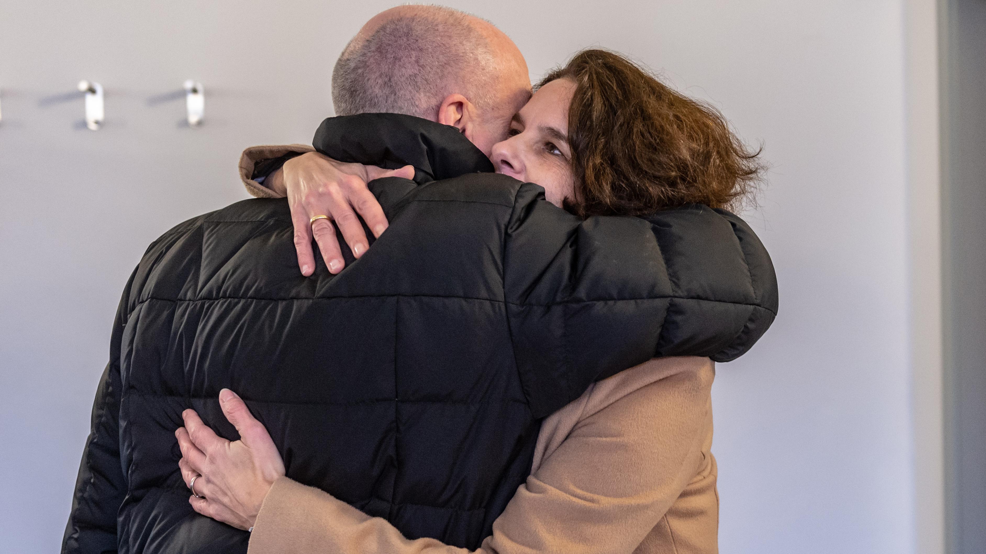 Wiedersehen vor Gericht: Joachim Wolbergs und seine Frau Anja. Sie leben seit 2015 getrennt.