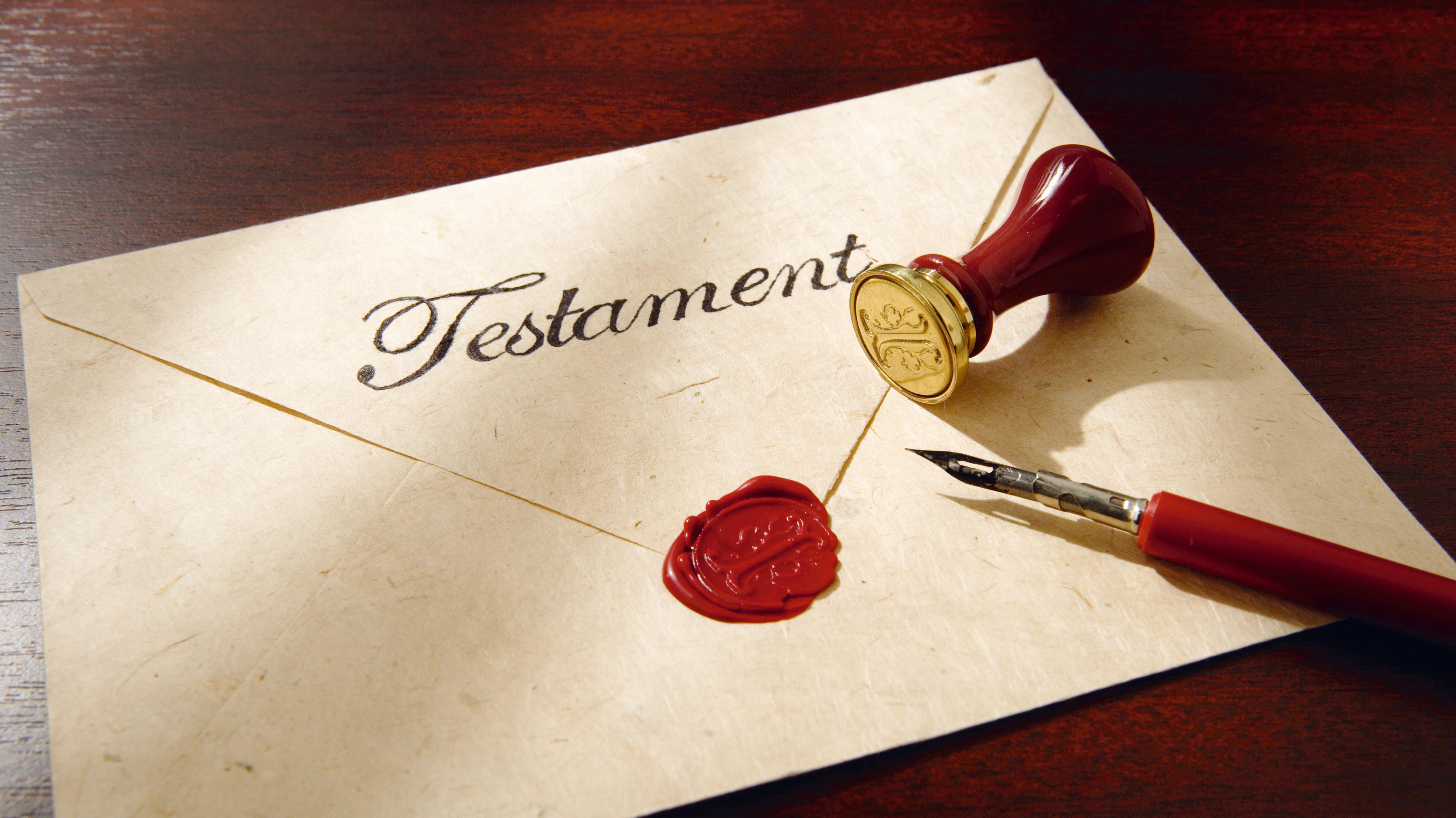 Ein versiegeltes Testament