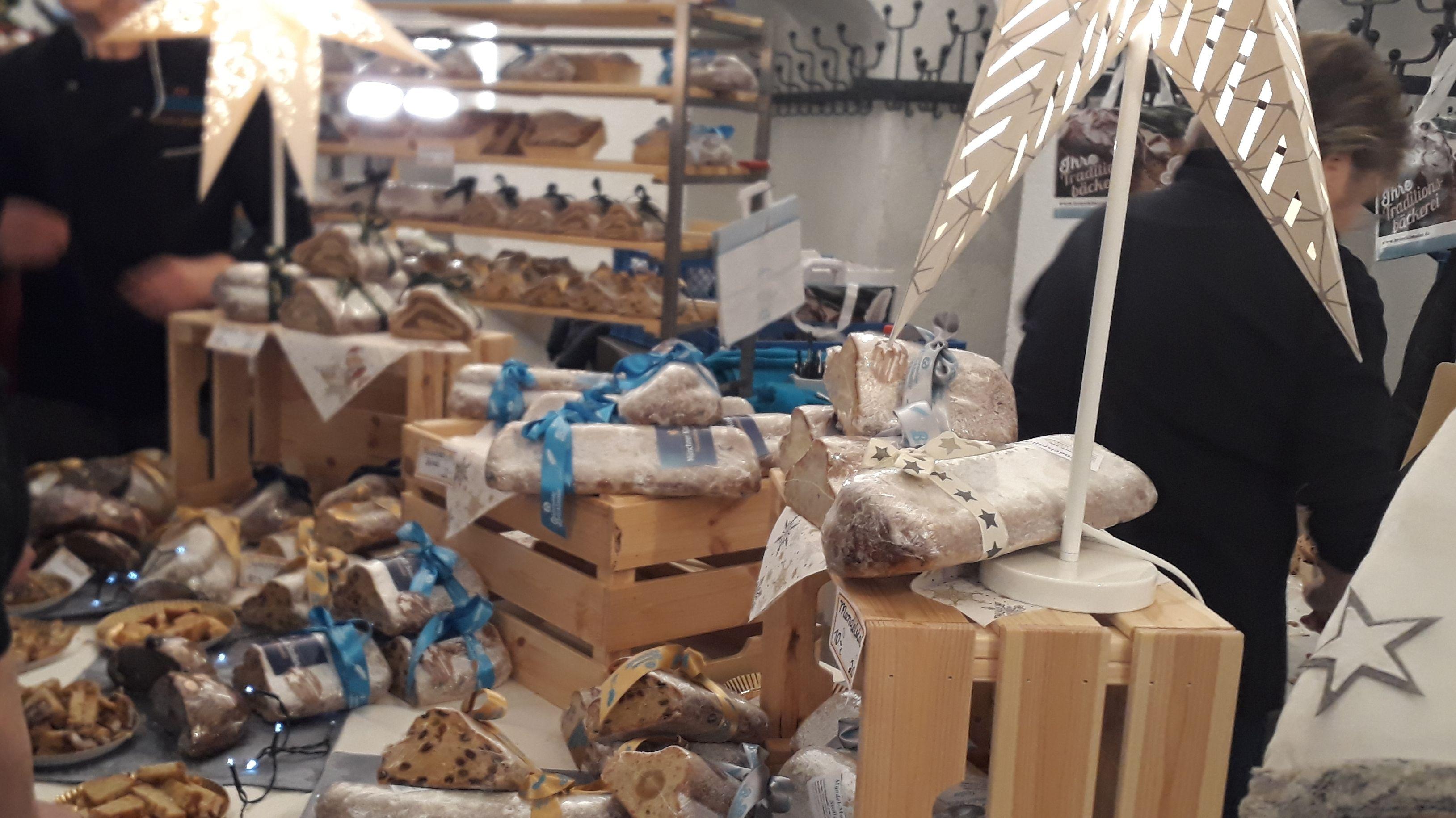 Christstollen auf dem Stollenmarkt in München