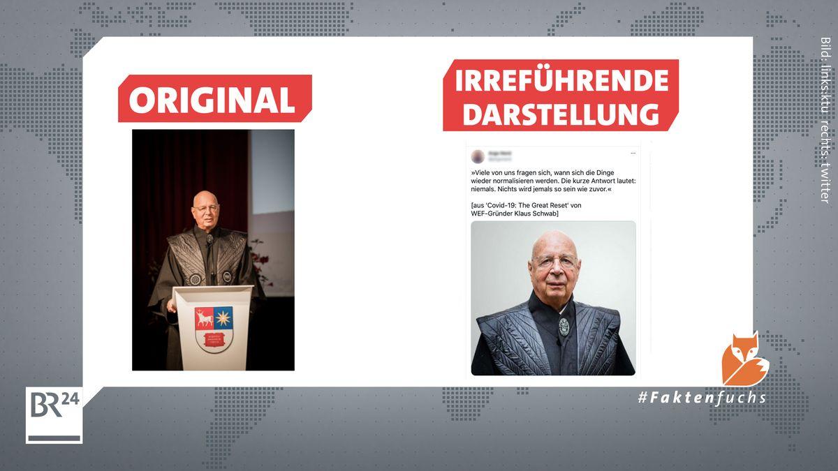 Irreführende Darstellung des WEF-Gründers Klaus Schwab