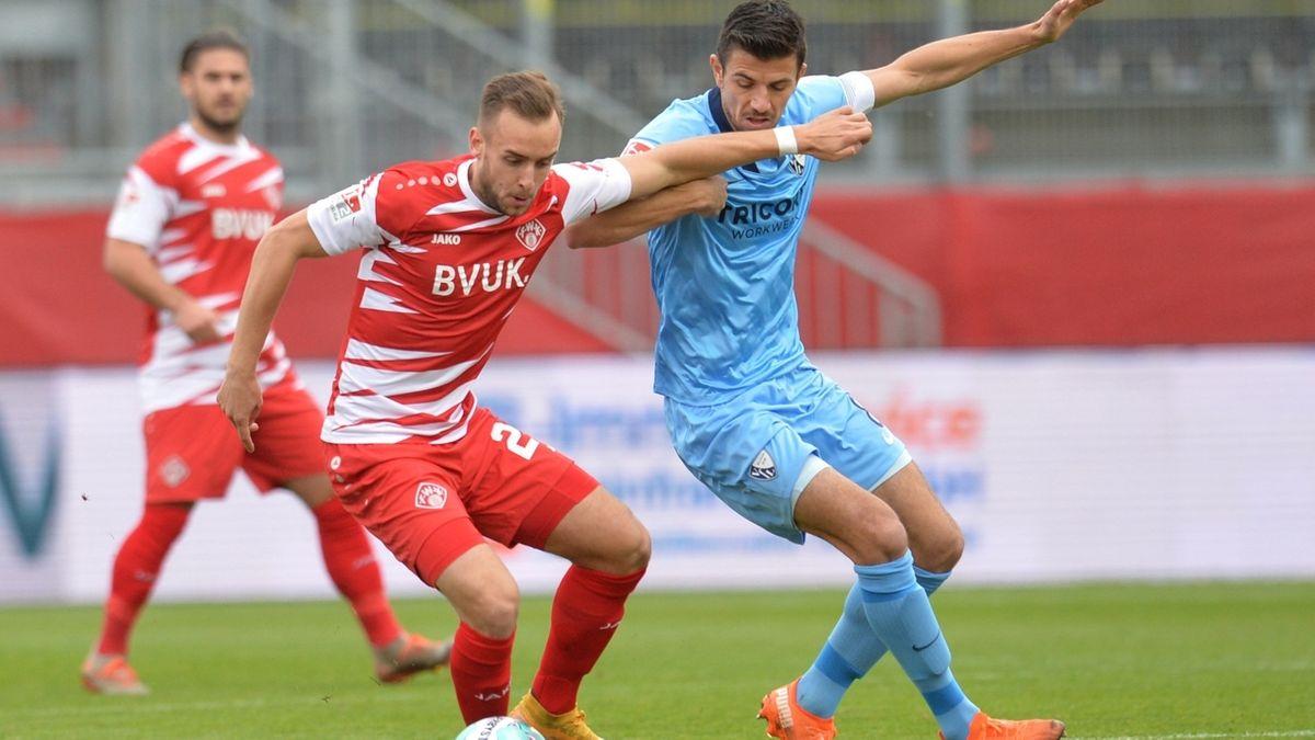 Spielszene FC Würzburger Kickers - VfL Bochum