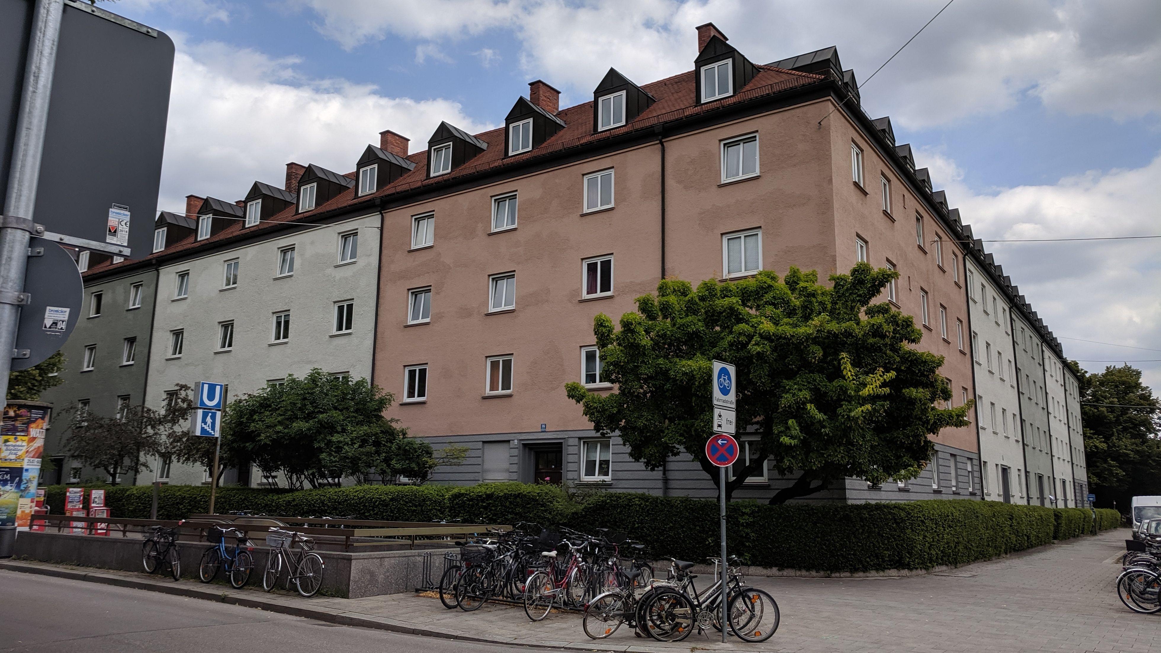 Das Hohenzollernkarree im Münchner Stadtteil Schwabing