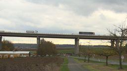 Die neugebaute Schraudenbachbrücke   Bild:BR Fernsehen