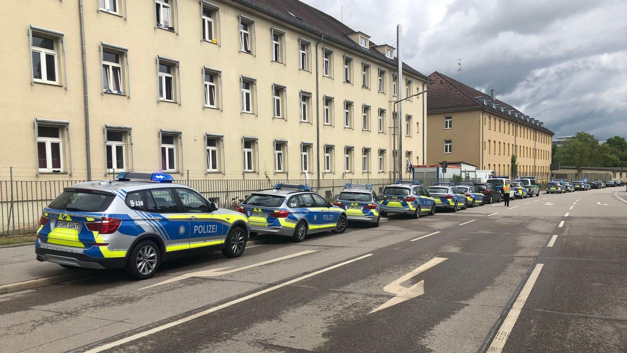 Polizeieinsatz im Ankerzentrum Regensburg