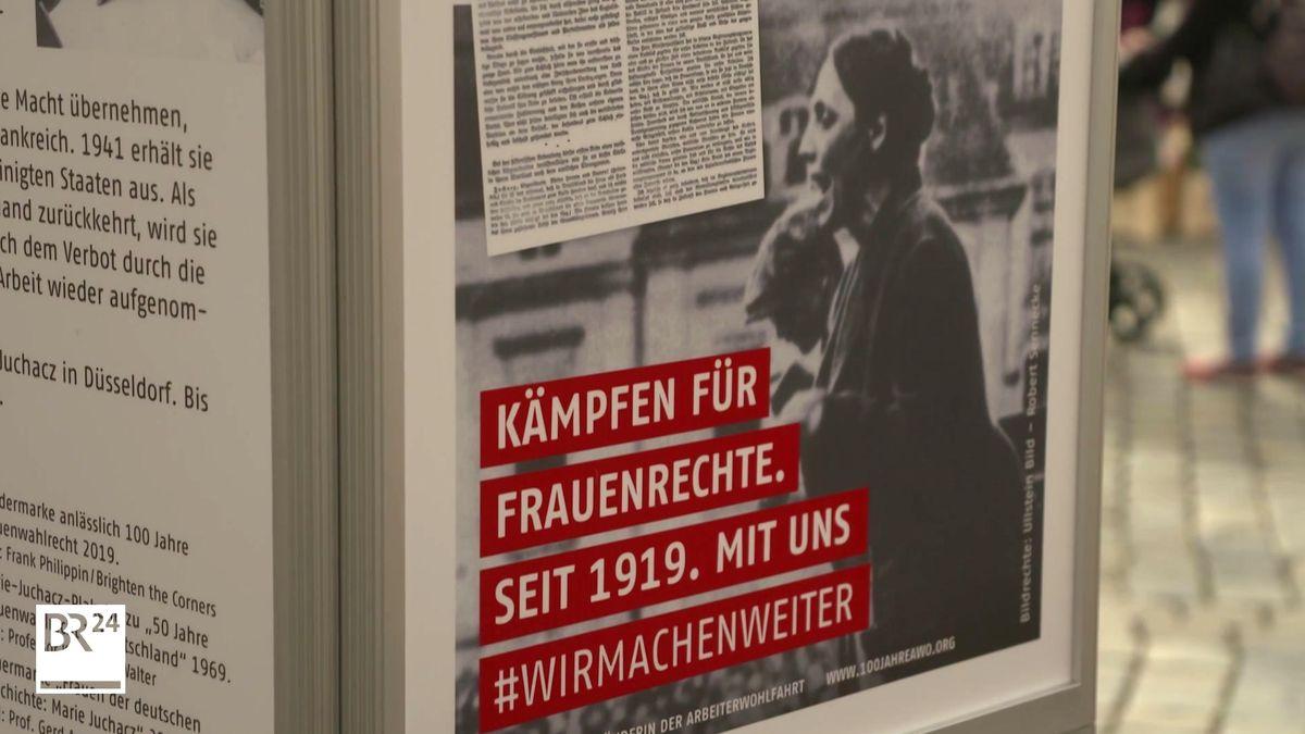 Eine Stellwand der AWO-Ausstellung