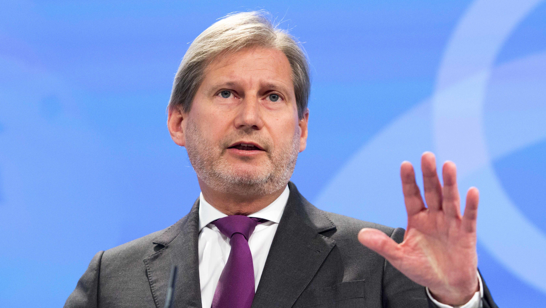 EU-Kommissar Hahn in Brüssel.