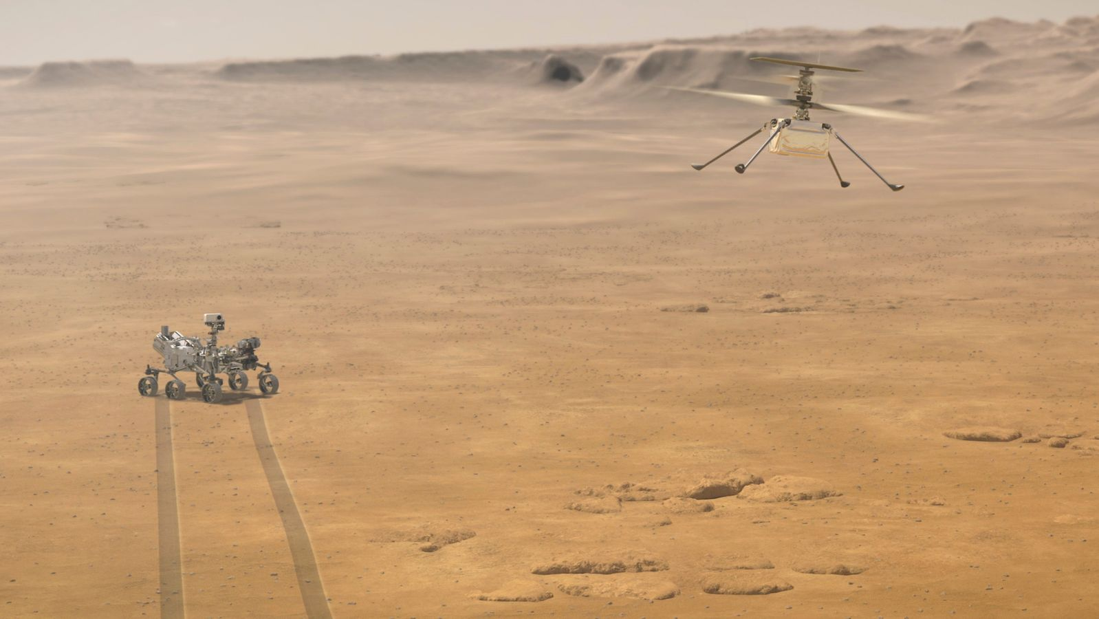 Ingenuity gelingt historischer Jungfernflug über den Mars ...