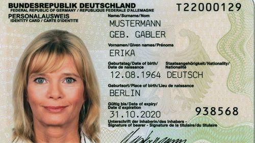 Ein Musterexemplar eines deutschen Reisepasses.