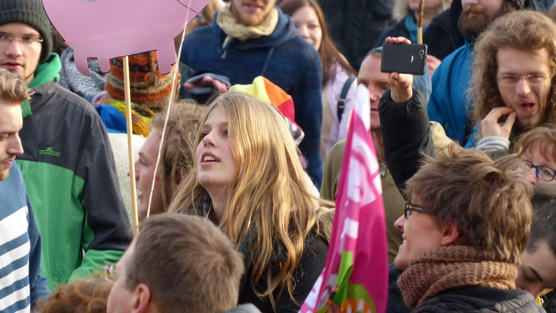 Jugendliche Demonstranten