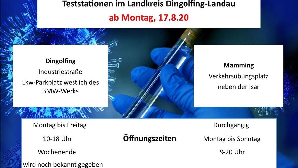 Übersicht über die Teststationen im Landkreis Dingolfing-Landau