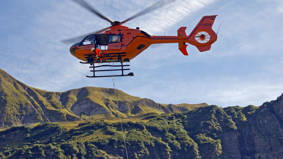 Rettungsübung mit Hubschrauber (Symbolbild)