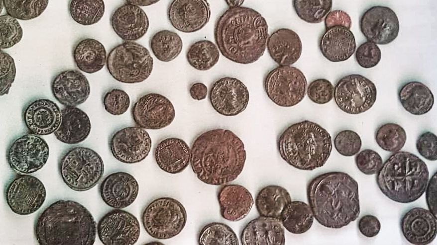Die sichergestellten Münzen.