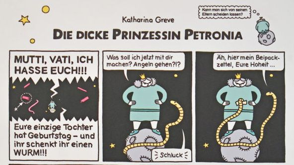 Prinzessin Petronia als Comic im Internet