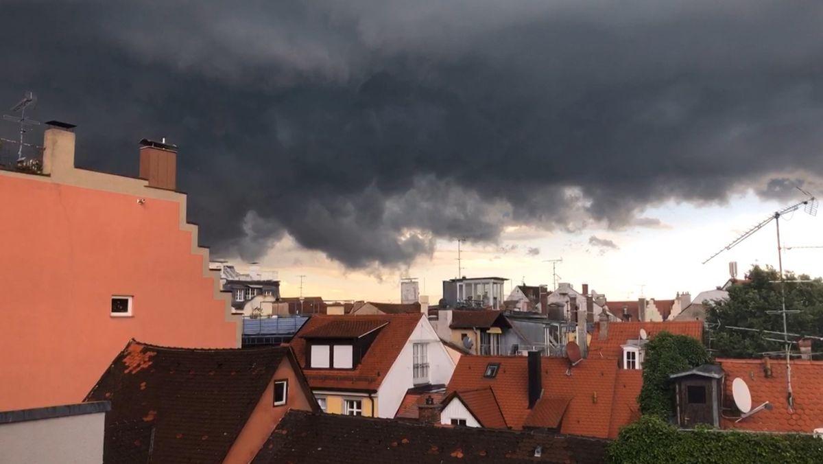 Höchste Warnstufe: Starkregen und Sturm in Bayern