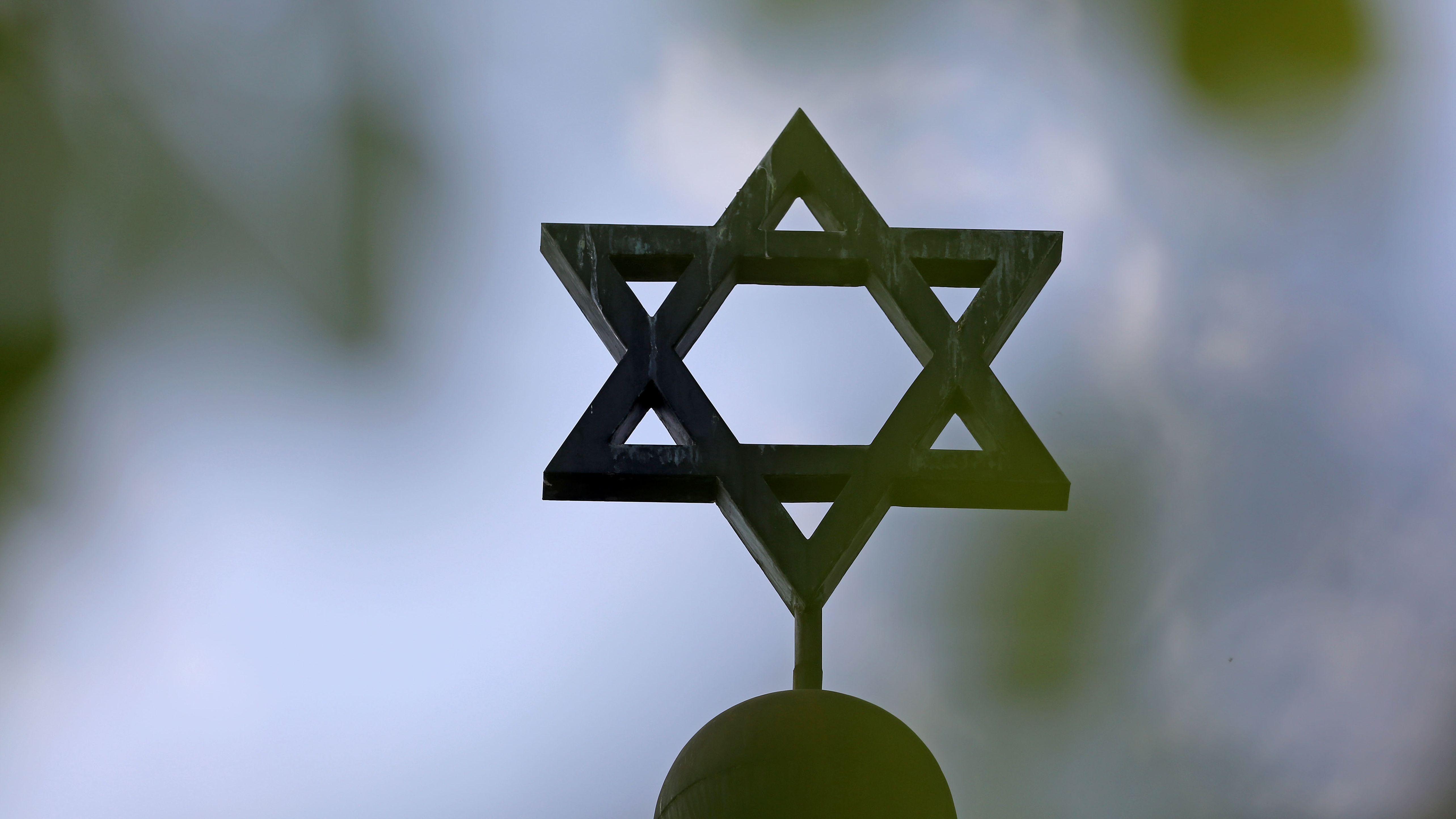 Der Stern der Synagoge der Jüdischen Gemeinde Halle/Saale (Sachsen-Anhalt)