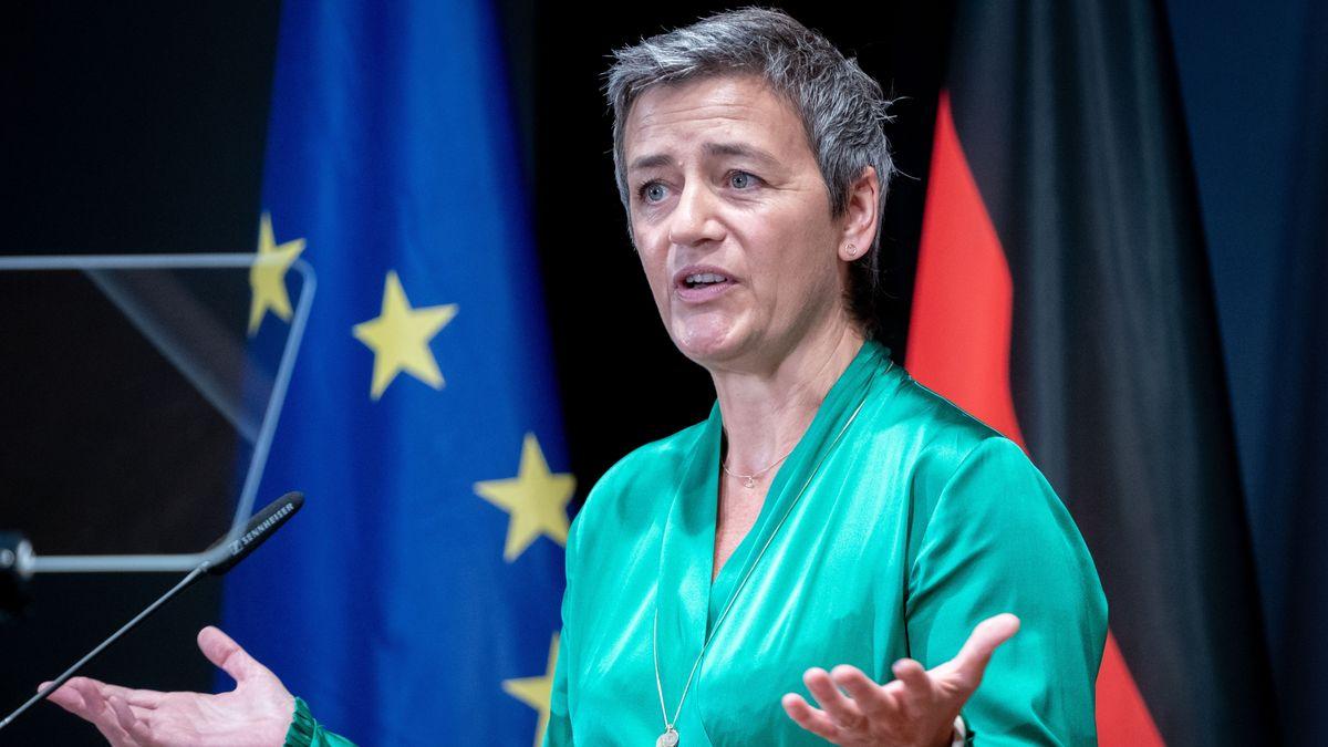 Margrethe Vestager, EU-Wettbewerbskommissarin, spricht im August 2019 bei der Botschafterkonferenz im Auswärtigen Amt.