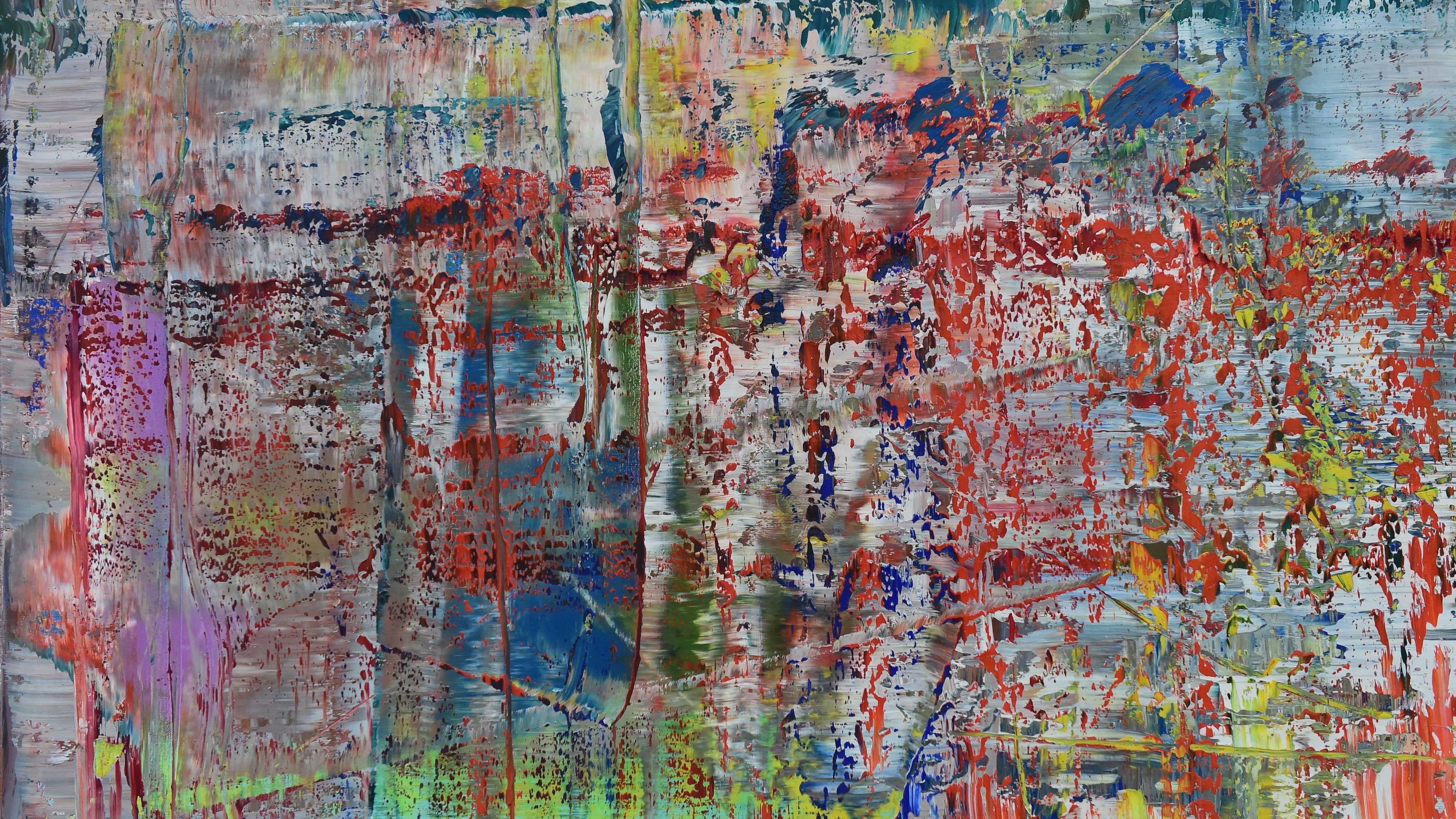 Abstraktes Gemälde von Gerhard Richter