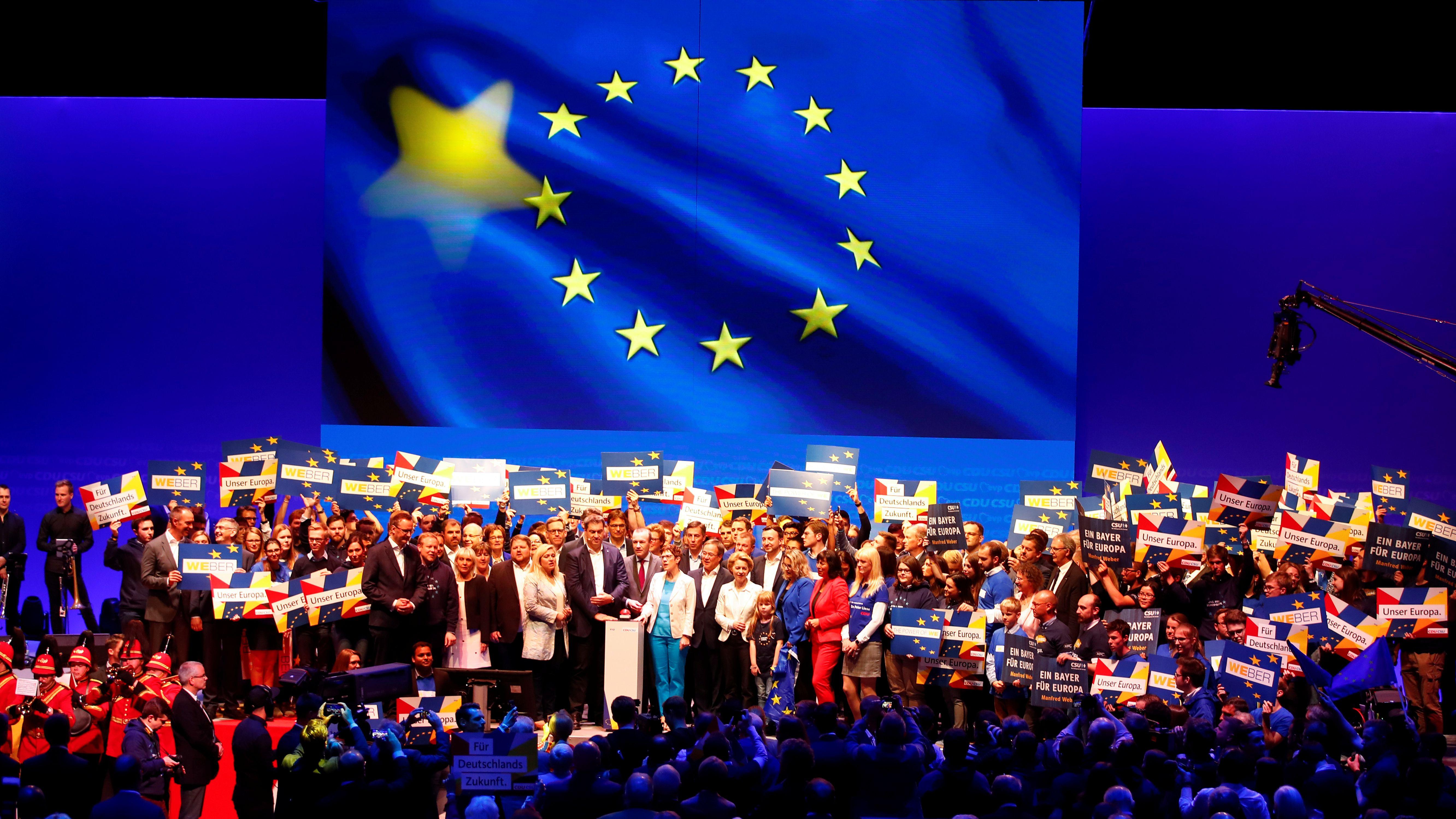 Archivbild: Wahlkampf-Auftakt von CSU und CDU