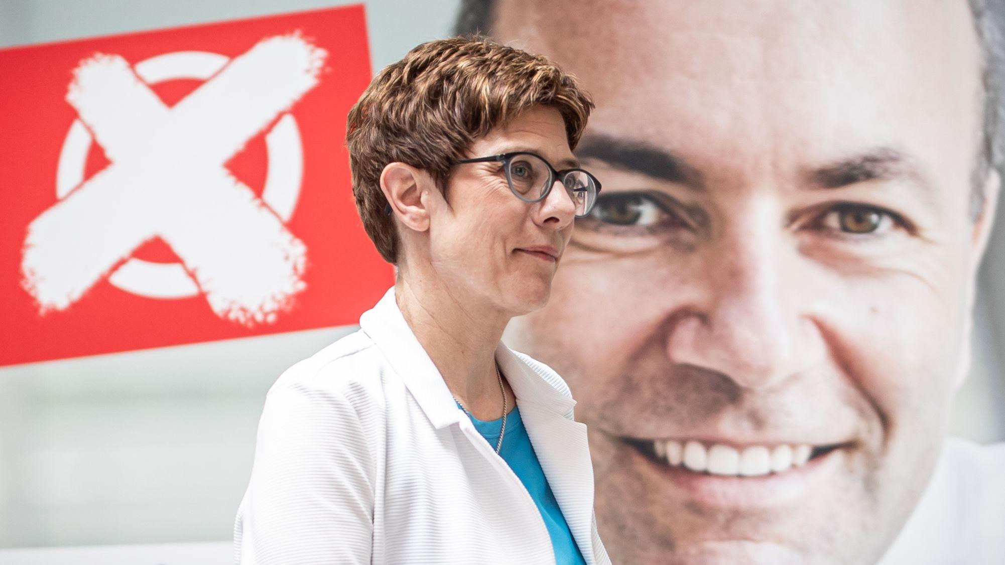 CDU-Chefin Kramp-Karrenbauer und CSU-Vize Weber
