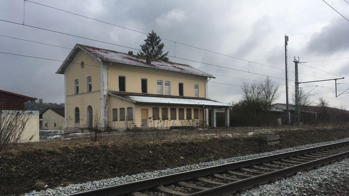 Stillgelegter Bahnhof Lehrberg (Lkr. Ansbach)
