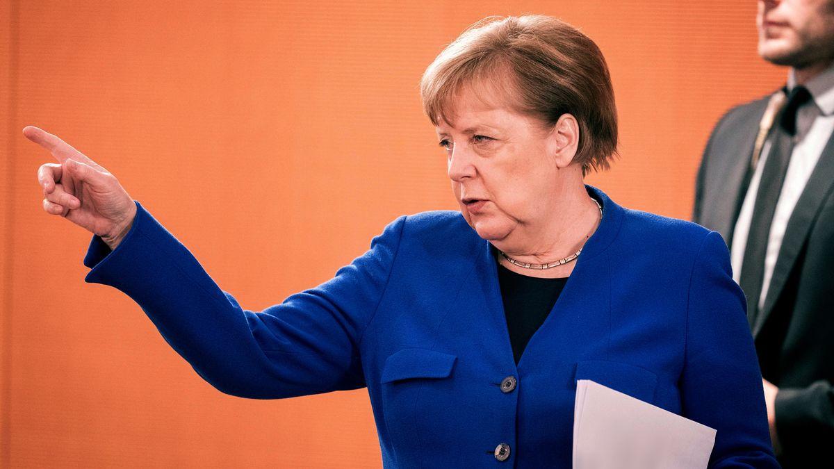 Angela Merkel am 13. Mai 2020 im Bundestag