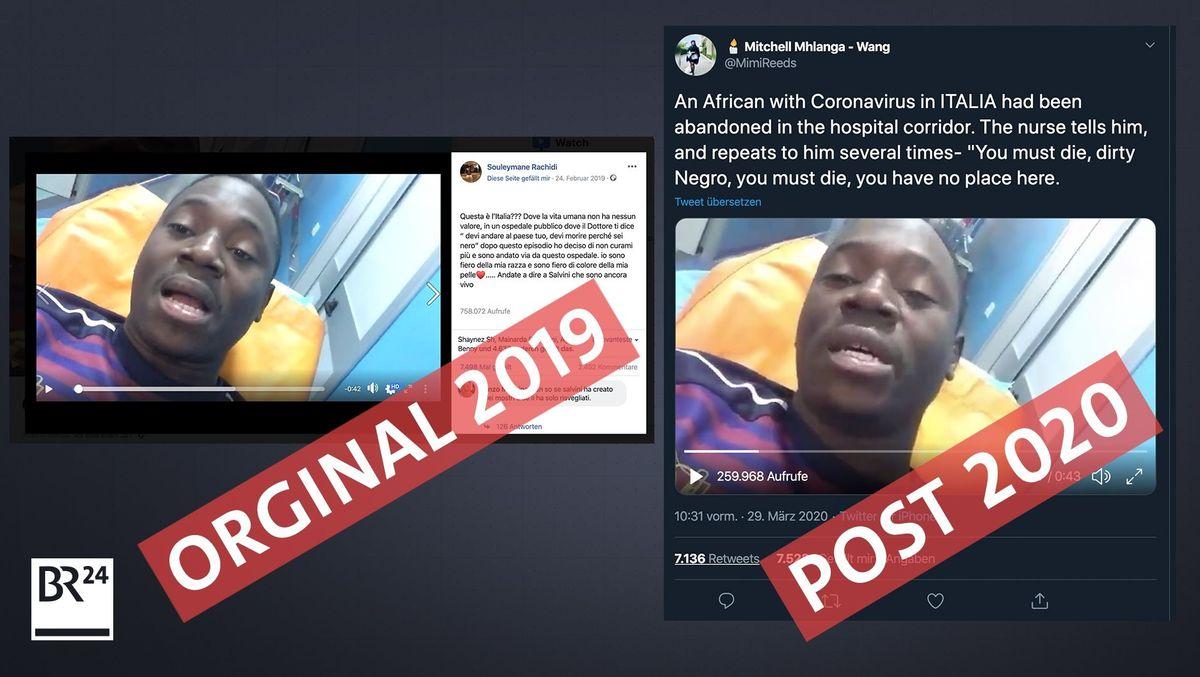 Ein viel geteiltes Video zeigt Rassismus in einem italienischen Krankenhaus - ein Corona-Bezug besteht nicht
