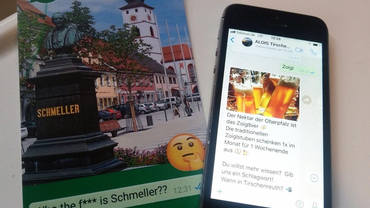 Chatbot Alois beantwortet alle Fragen rund um die Stadt Tirschenreuth - auch zum Thema Zoigl liefert er per Whatsapp Antworten.