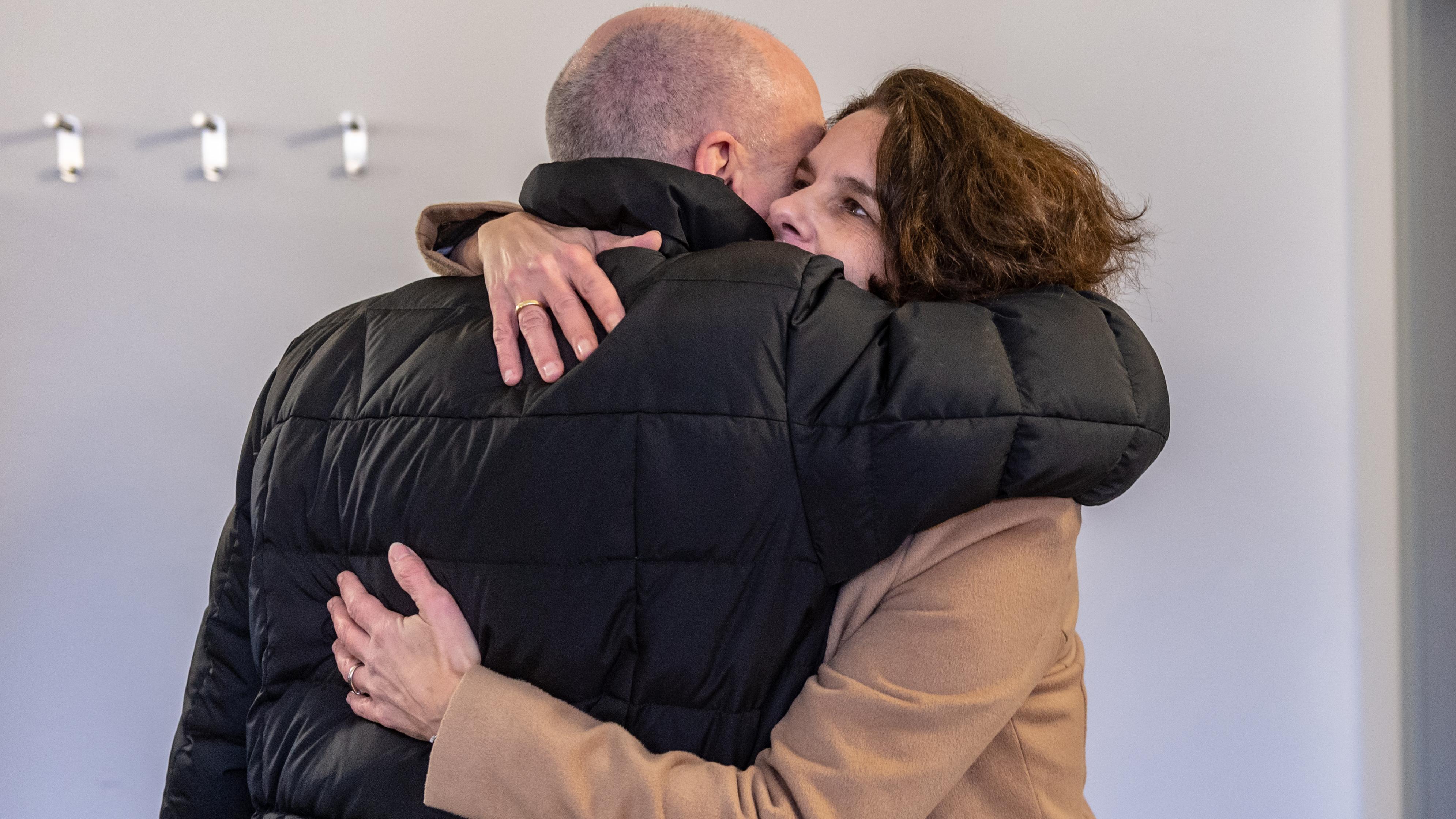 Wiedersehen vor Gericht. Joachim Wolbergs und seine Frau Anja. Sie leben seit 2015 getrennt.