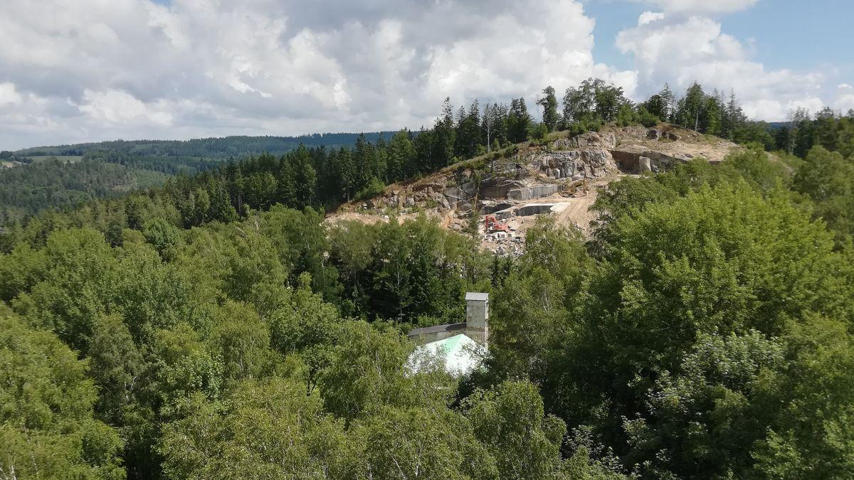 Der Steinbruch in Flossenbürg