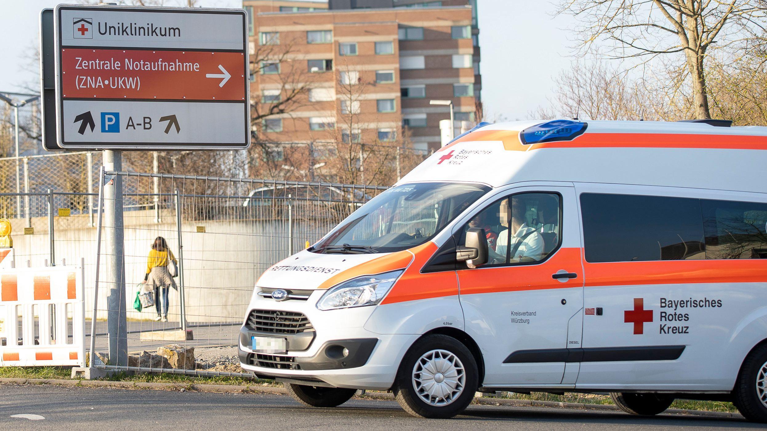 Rettungswagen am Uniklinikum Würzburg