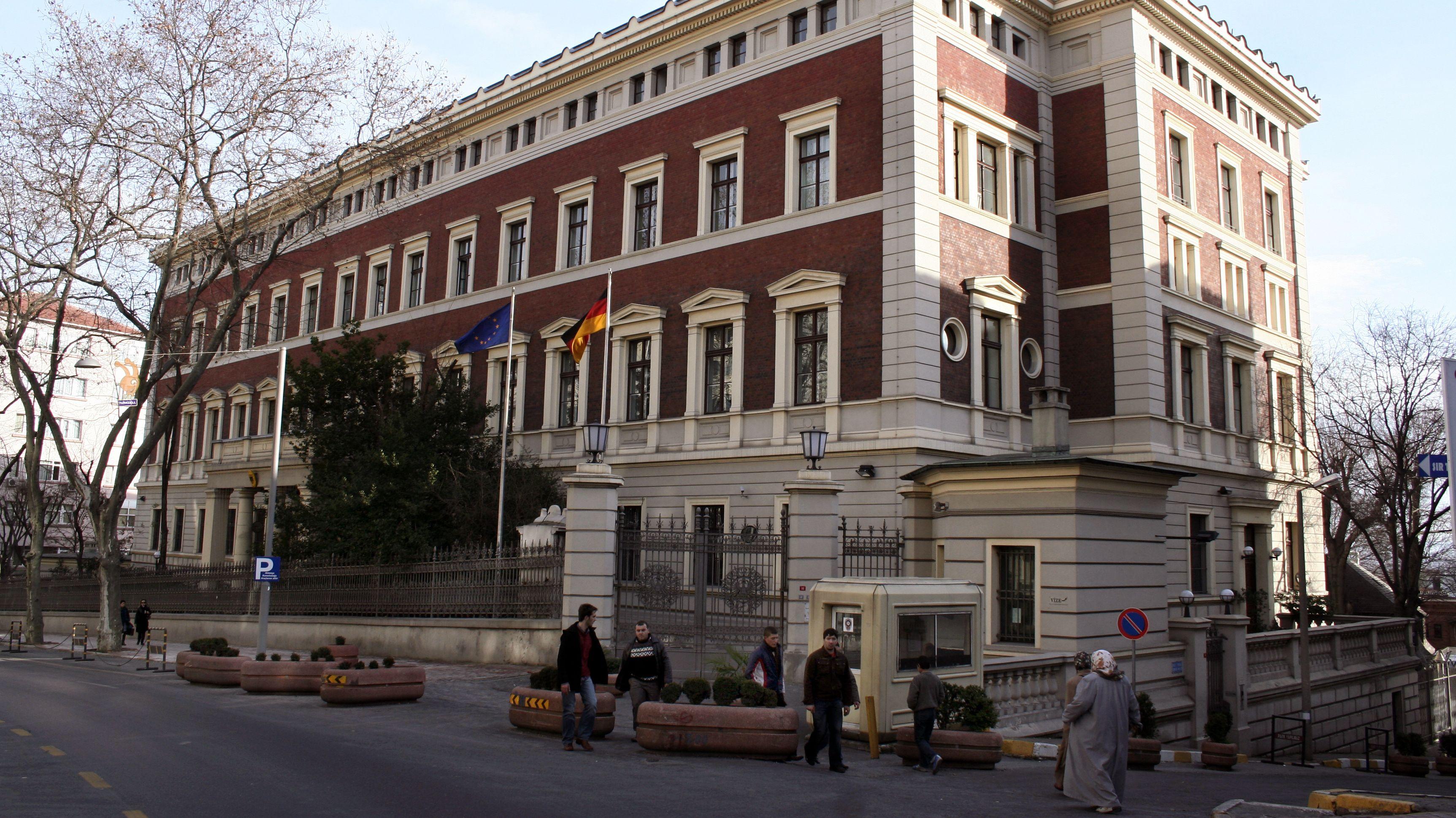 Das Gebäude des deutschen Generalkonsulats in Istanbul.