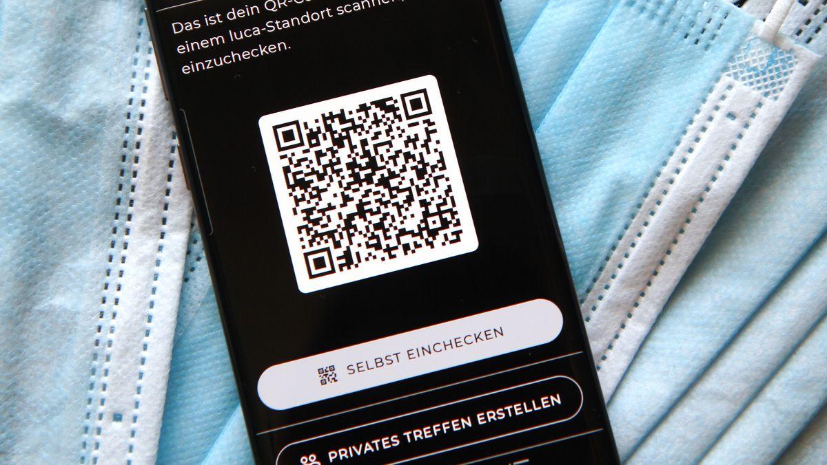 QR-Code zum Check-In in der Luca-App