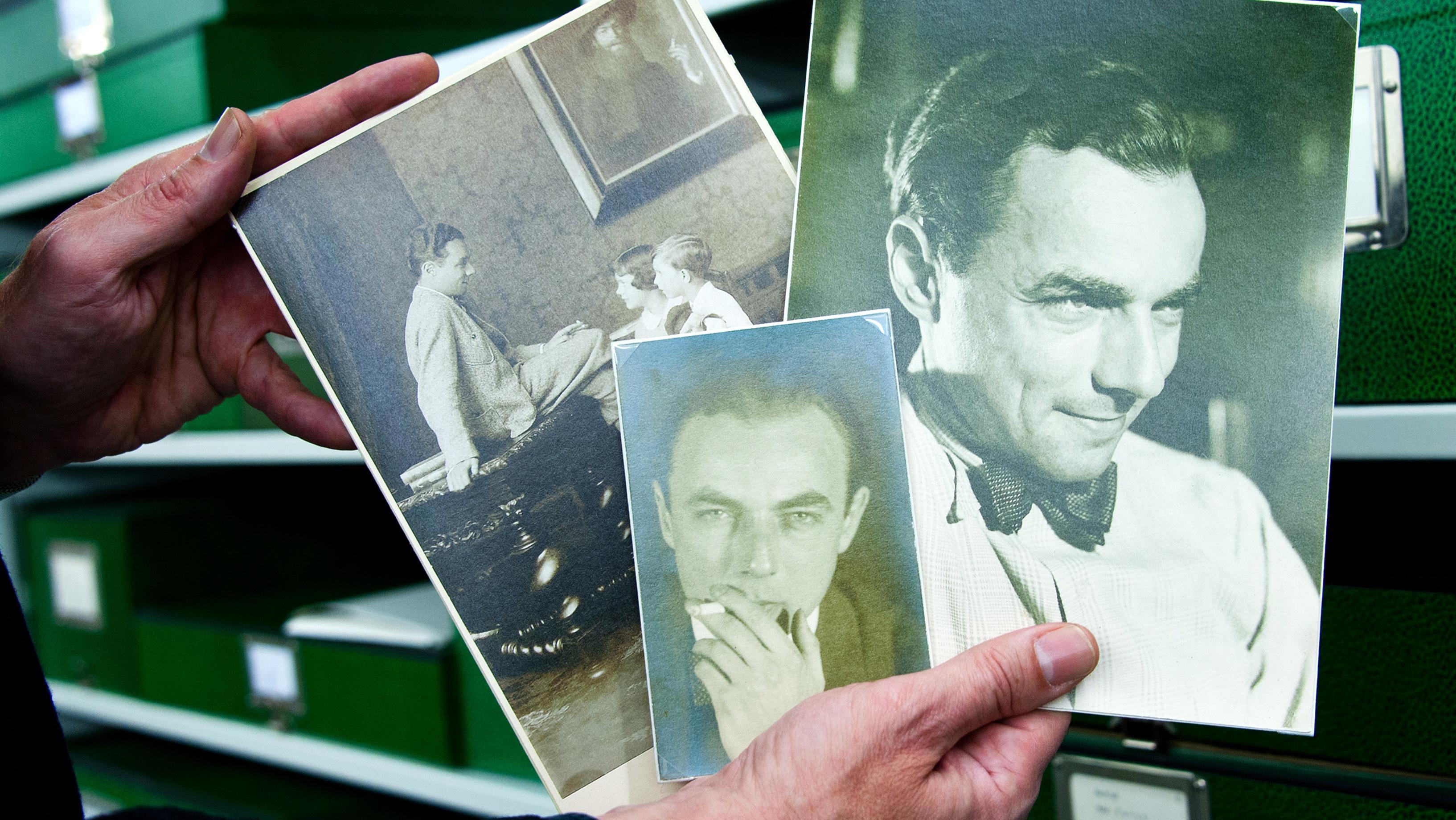 Ein Blick auf einige Porträtfotos Erich Kästners. Sie gehören zum Archivbestand des Deutschen Literaturarchivs Marbach.