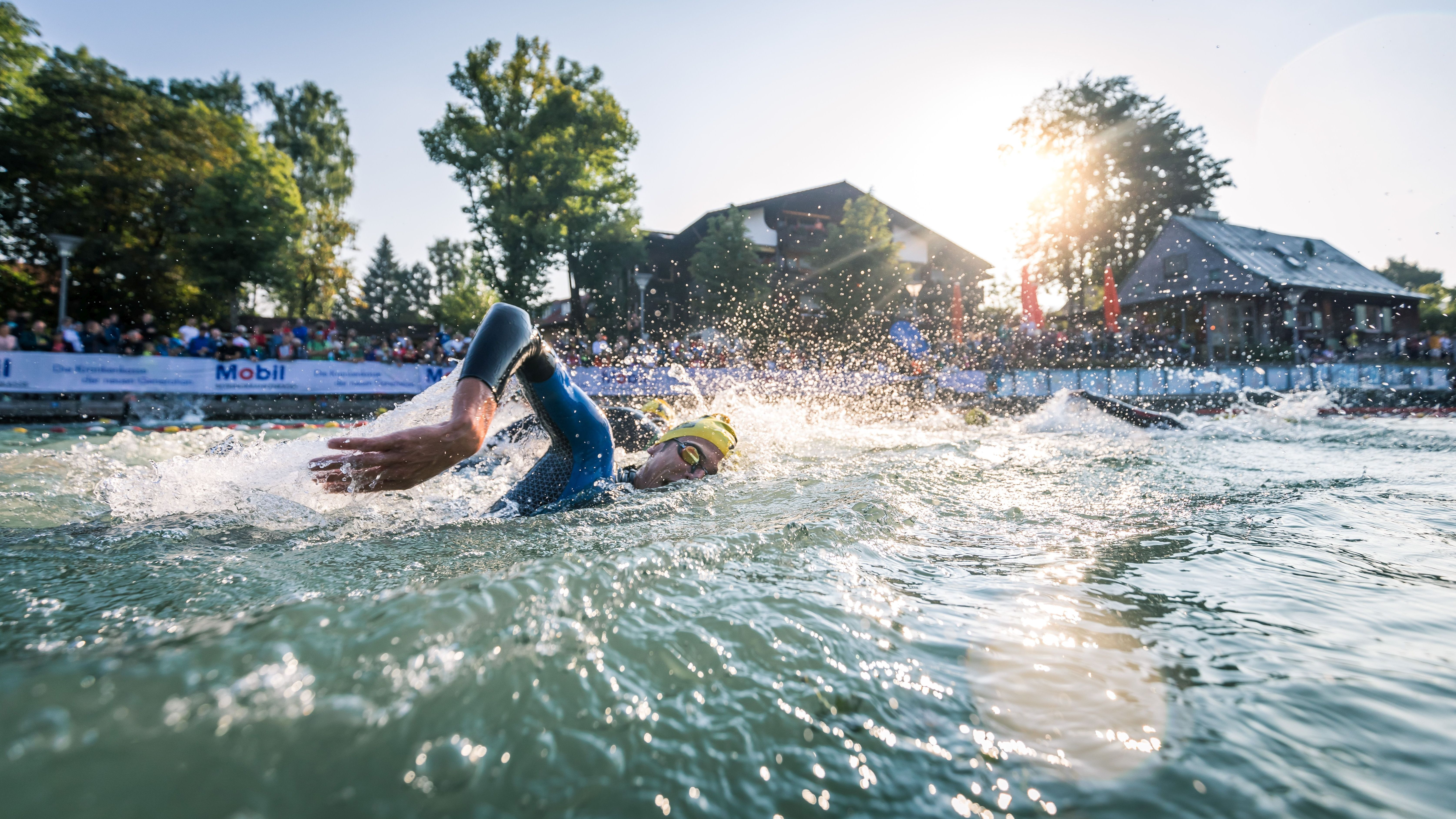 Triathlet im Alpsee 2018