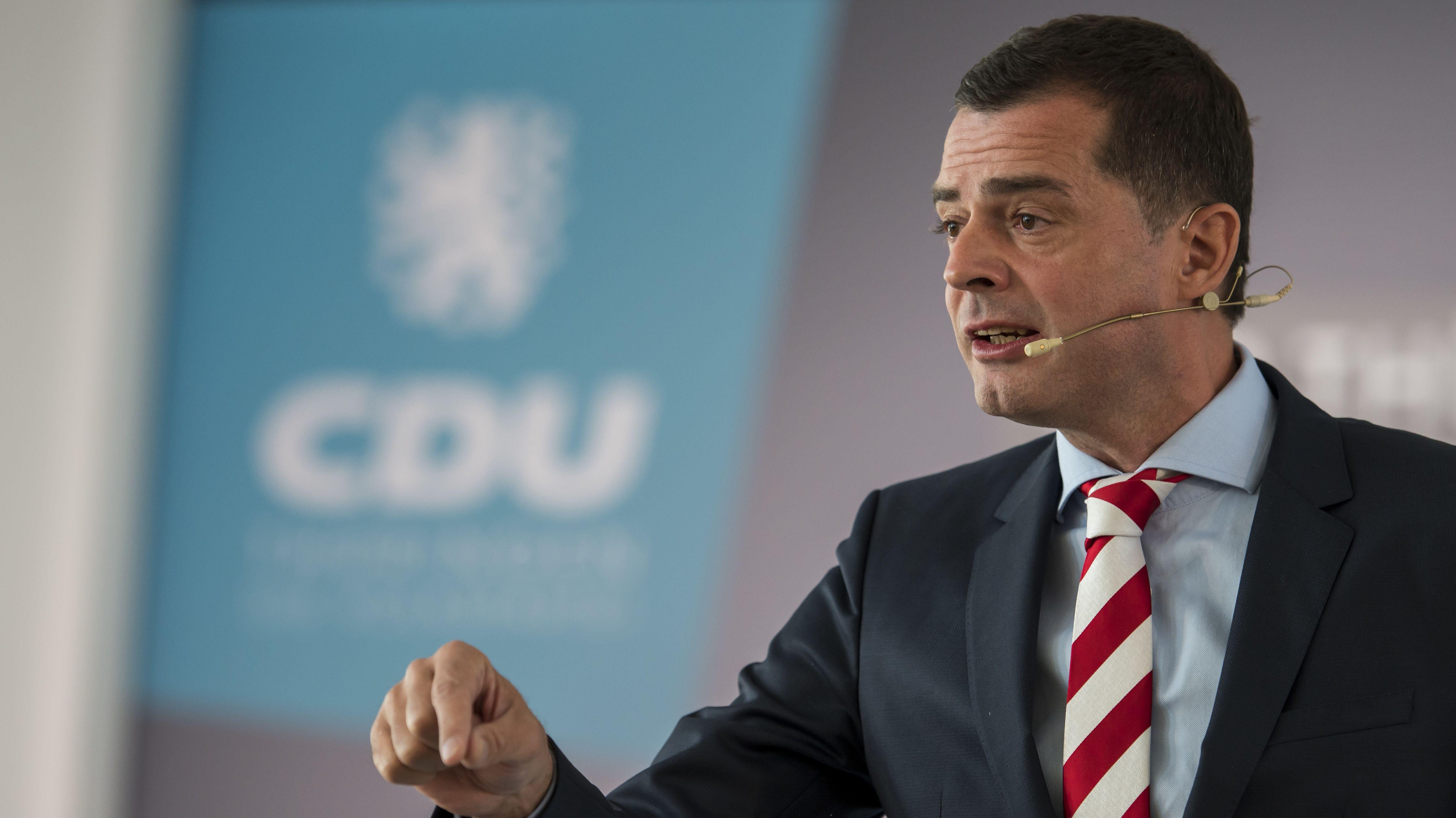 Der Thüringer CDU-Landesvorsitzende Mike Mohring Mitte September bei seiner Rede auf dem Thüringer CDU-Landesparteitag.