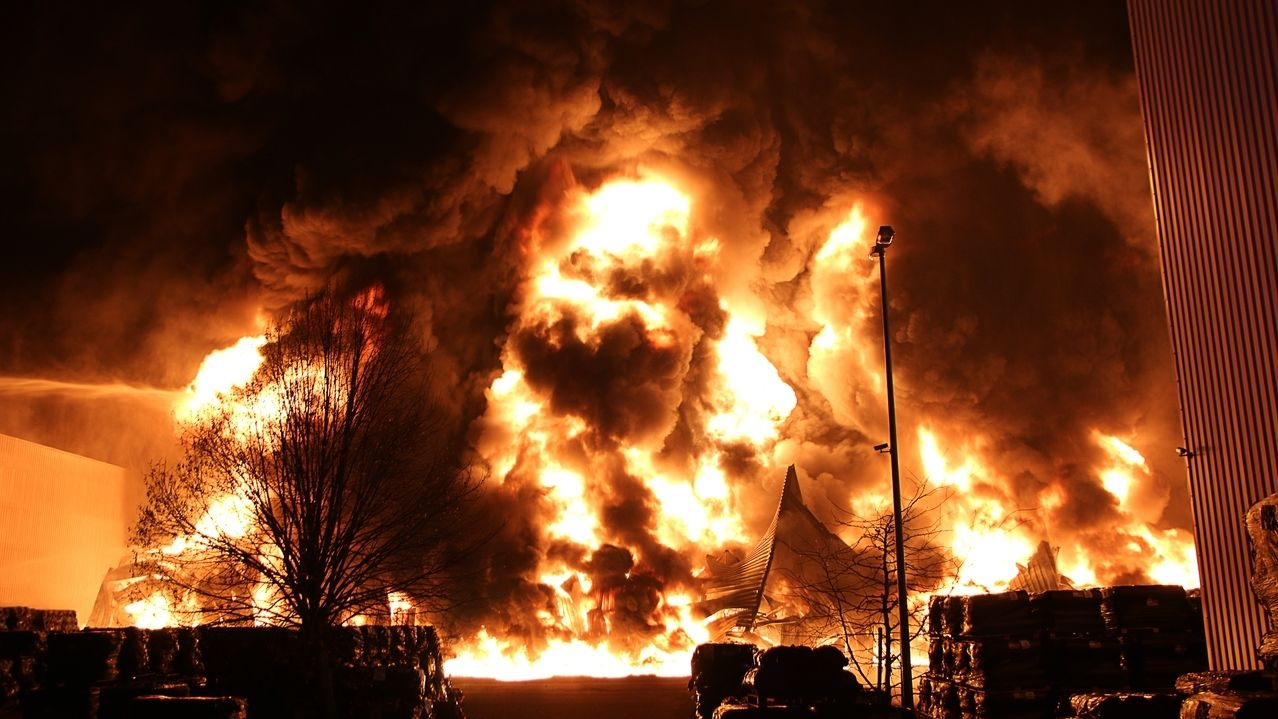 Großbrand in Lauingen in der Silvesternacht