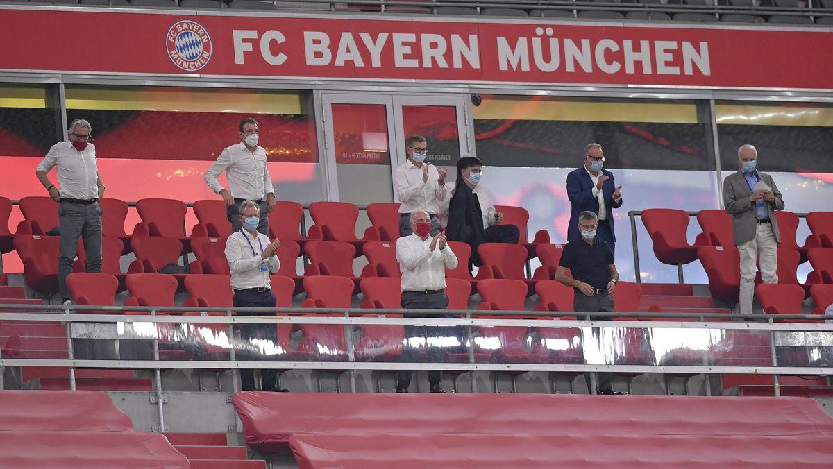 Tribüne des FC Bayern