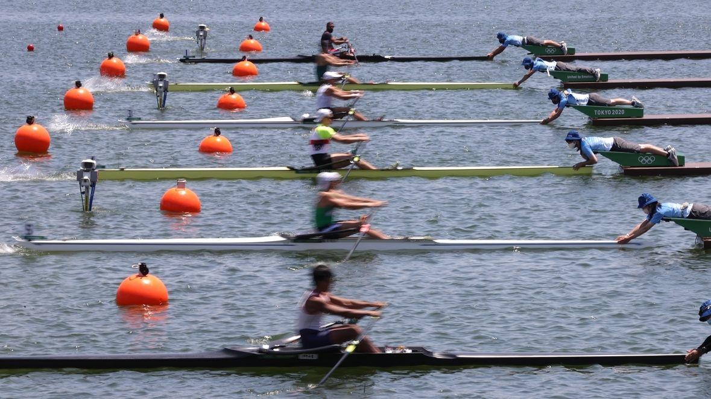 Ruder-Vorlauf bei Olympia mit Oliver Zeidler