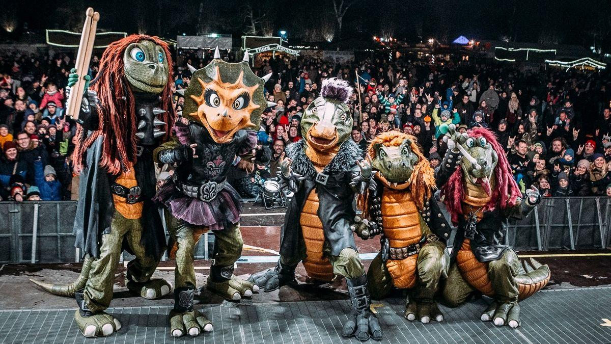 Heavysaurus auf der Bühne