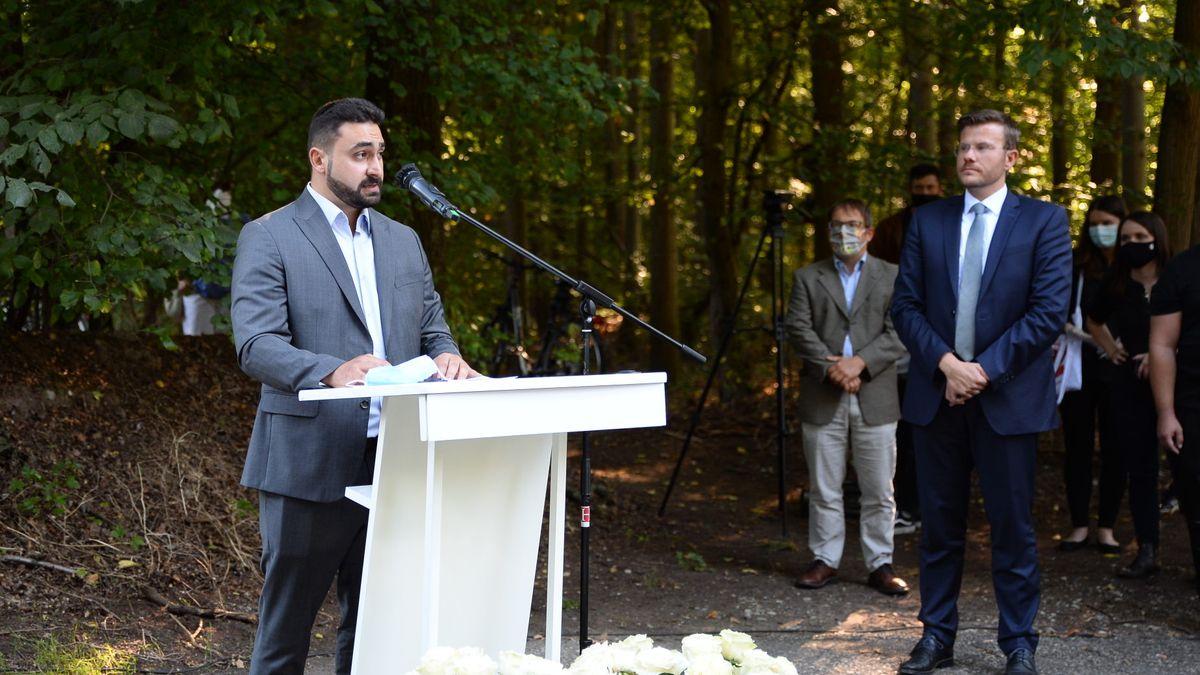 Abdul-Kerim Şimşek während seiner Rede