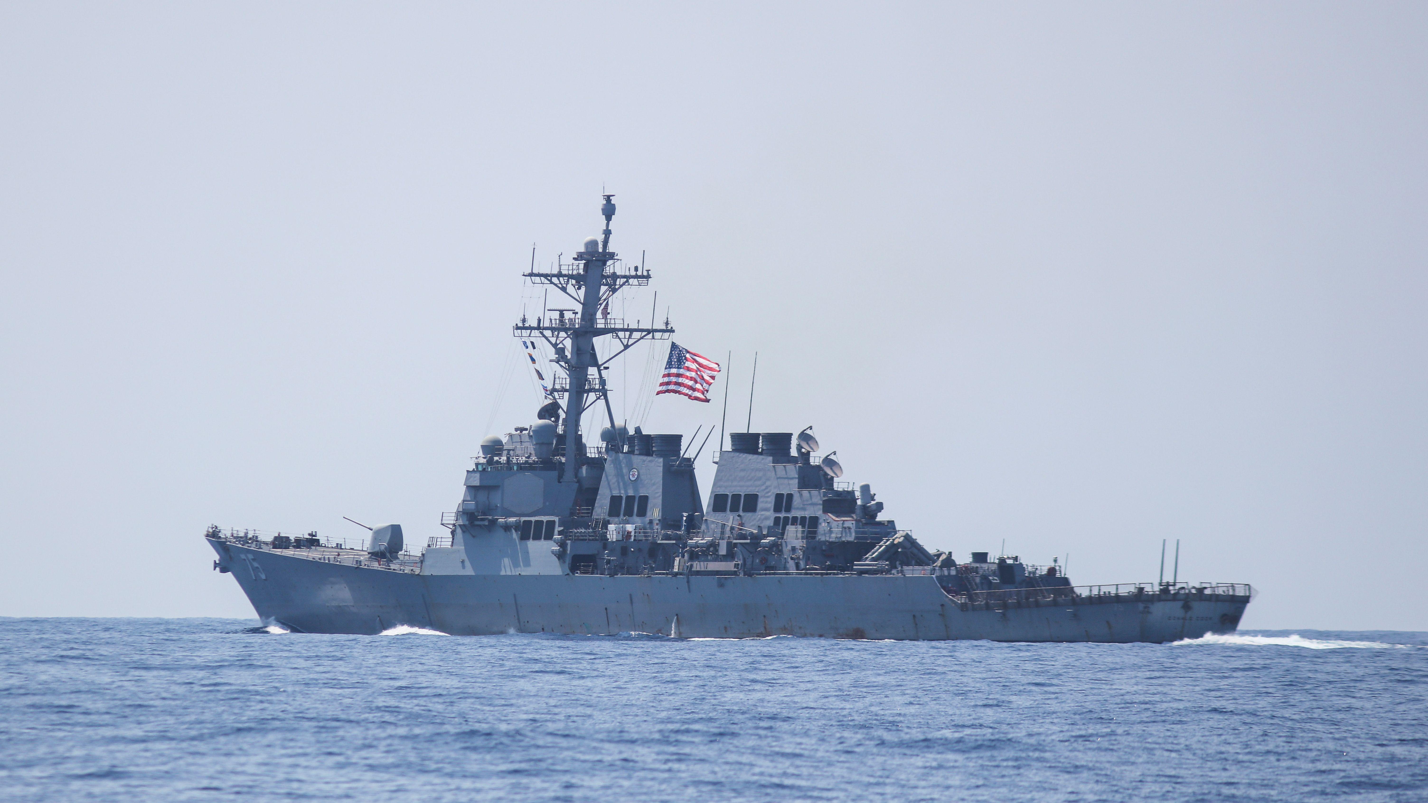 Symbolbild: Ein Schiff der US-Navy bei einer Militärübung in Haifa.