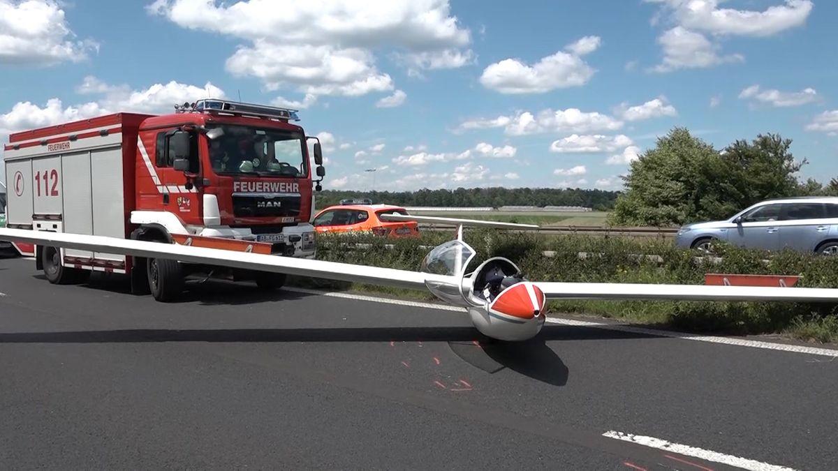 Ein Segelflugzeug musste nach einem missglückten Startmanöver notlanden.