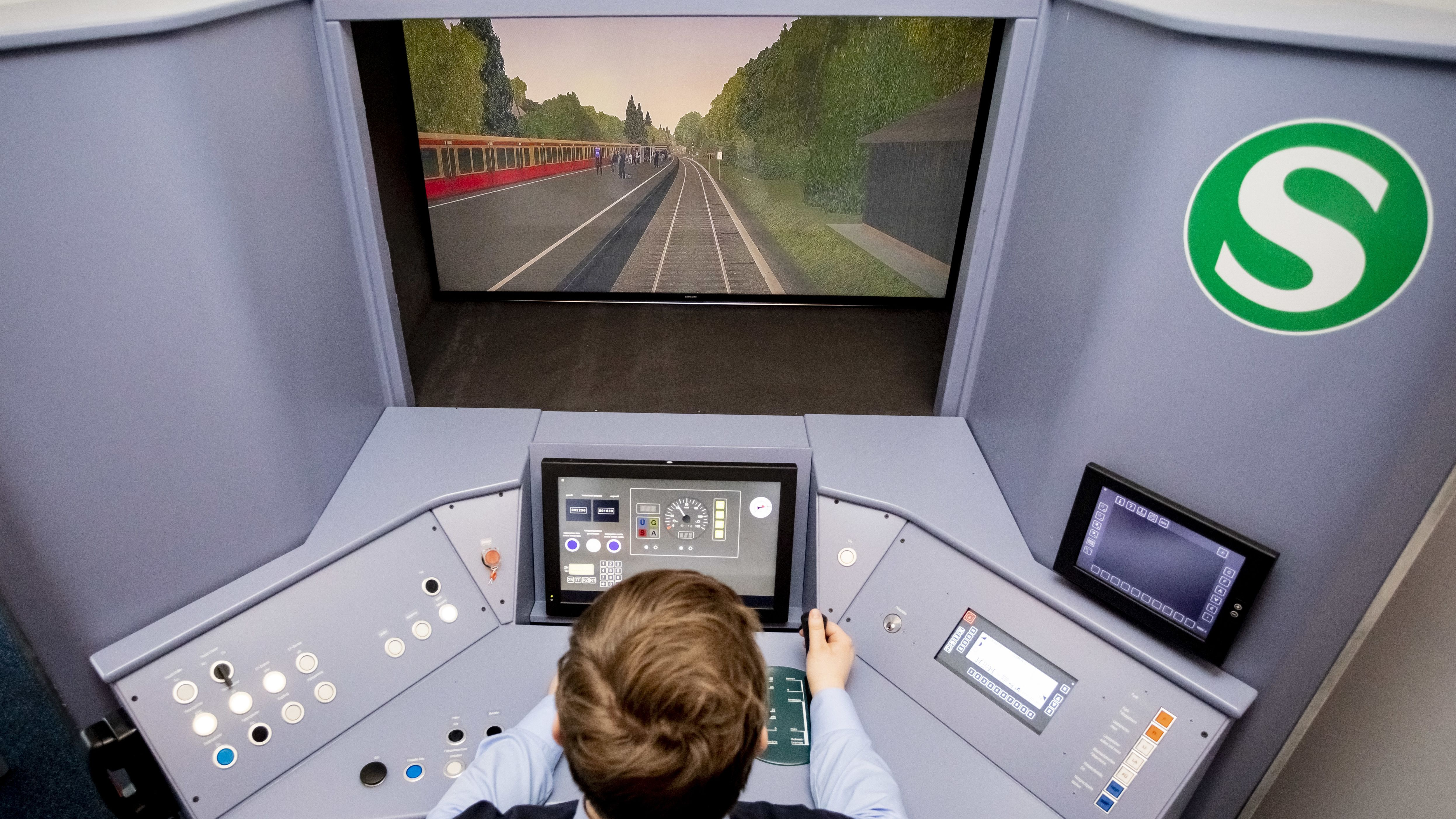 Ein Fahrsimulator der S-Bahn. (Foto von 2019 aus Berlin)