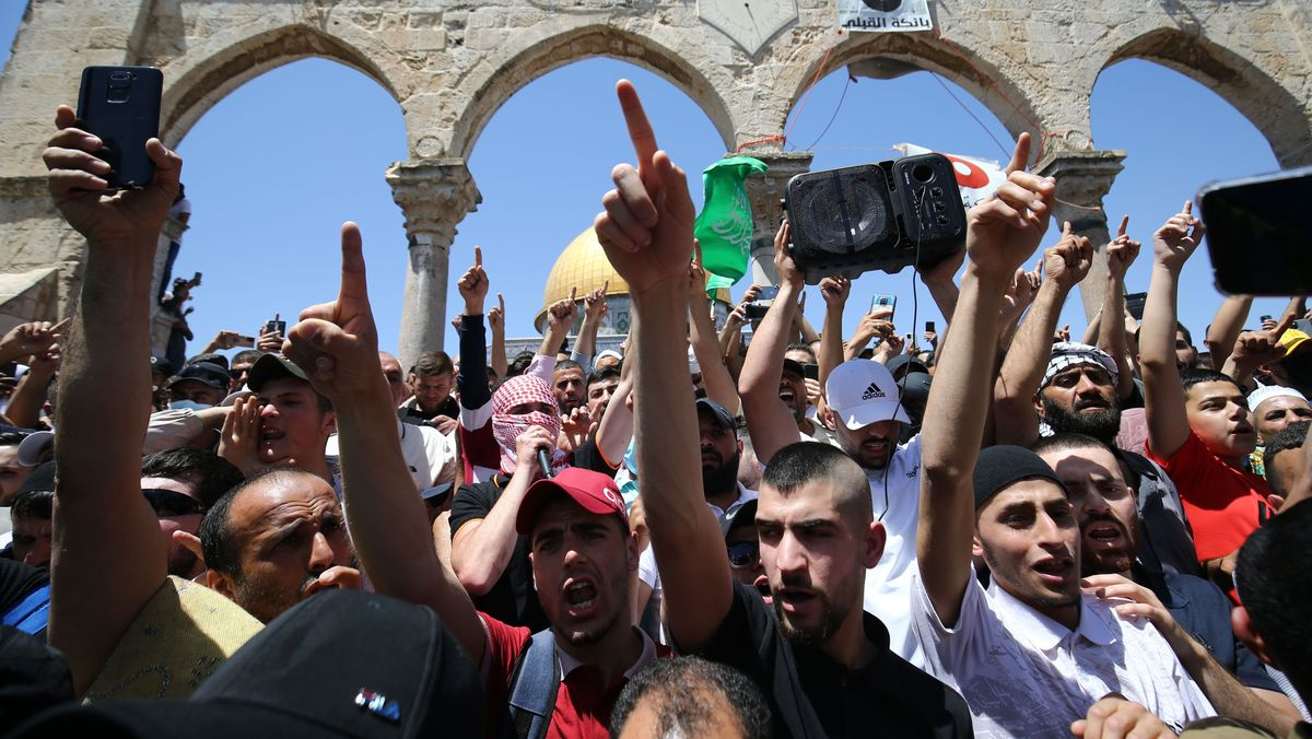 Proteste in Jerusalem am 7. Mai 2021