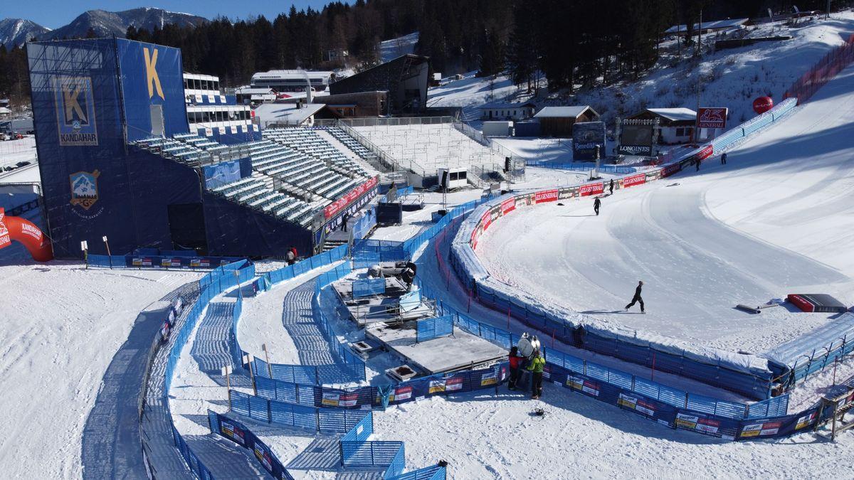 Zielbereich Kandhar-Abfahrt in Garmisch-Partenkirchen