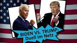 Biden vs. Trump - das Duell im Netz | Bild:BR