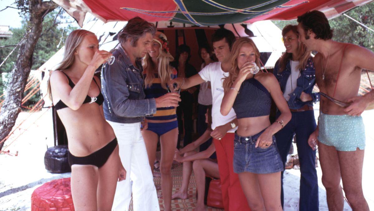 Gunter Sachs mit Freunden in Saint Tropez